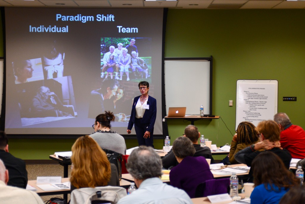 Instructor Cathy Naigle leads advanced training in Collaborative Process methods for working with estates, trusts and probate. Photo: Courtesy Collaborative Practice Silicon Valley
