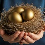 nest with golden egg