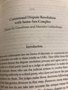 Chapter 7, Consensual Dispute Resolution with Same-Sex Couples